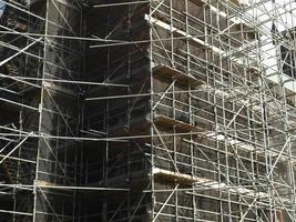Scaffolding in construction site photo