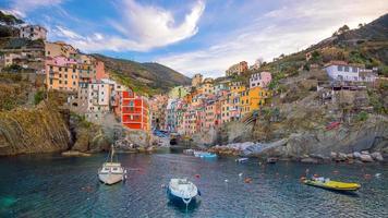 Riomaggiore, the first city of the Cique Terre in Liguria, Italy photo