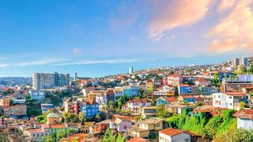 Colorful buildings of Valparaiso, Chile photo