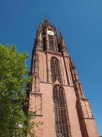 Catedral de Frankfurter Dom en Frankfurt. foto