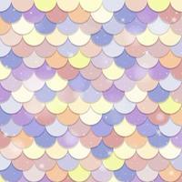 patrón de escamas de sirena pastel vector
