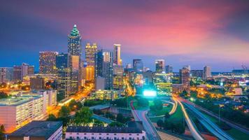 Skyline of Atlanta city photo