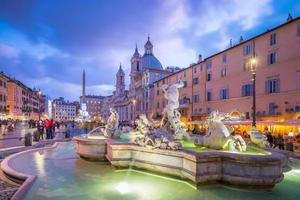Piazza Navona in Rome, Italy photo