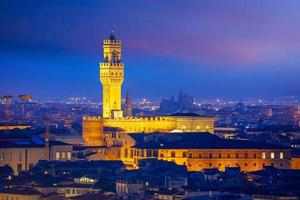 Palazzo Vecchio in downtown Florence city in Tuscany Italy photo