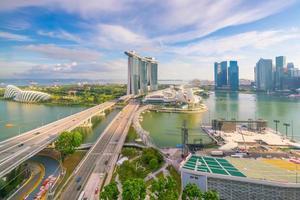 Singapore downtown skyline bay area photo