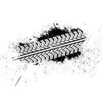 Traces of a brush car vector