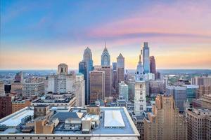 Cityscape of downtown skyline Philadelphia in Pennsylvania photo
