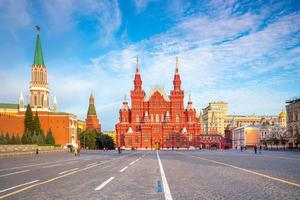 Historical buildings at the Red Square in Moscow photo