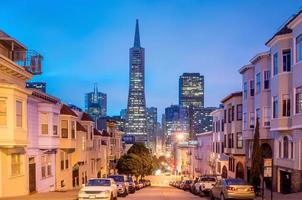 San Francisco at night. photo