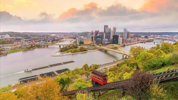 Pittsburgh city downtown skyline USA photo