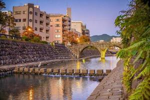 Megane Spectacles Bridge in Nagasaki, Kyushu Japan photo
