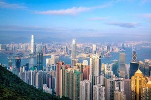 Hong Kong city skyline with Victoria Harbor view photo