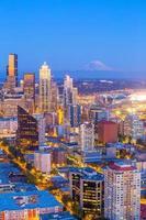 Seattle city downtown skyline cityscape in Washington State,  USA photo