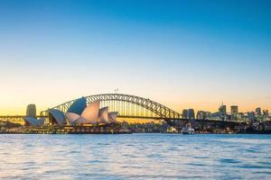 Downtown Sydney skyline at twilight photo