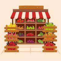Fruits and vegetables shop vector design