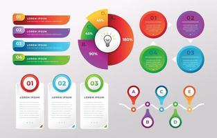 Simple and Colorful Infographic Elements vector