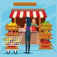 Shop seller woman vector design