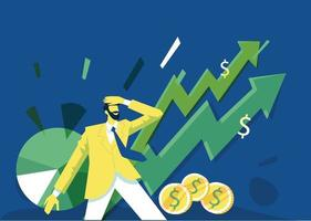 Business growth illustration concept vector