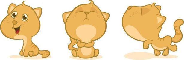 adorable cat cartoon, good for your design vector