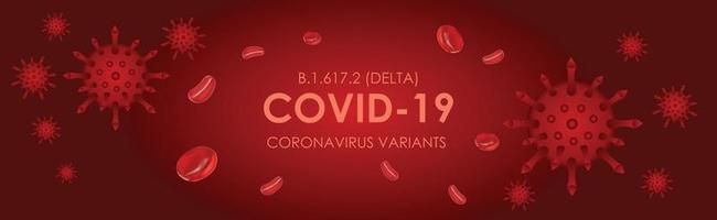 Covid Delta New variant coronavirus B.1.617.2 vector