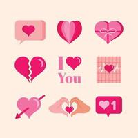 Heart Icon Template Set vector