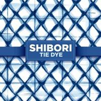 Dark Blue Shibori Tie Dye Prism Seamless Pattern vector