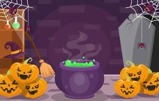 preparación de la fiesta de halloween vector