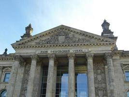 Parlamento del Reichstag en Berlín. foto