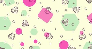 Seamless pattern with hearts. Vector romantic background.