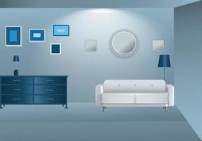realistic interior soft blue color vector