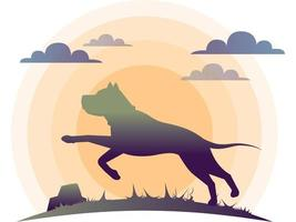 Animals Dog Silhouette And Logo vector