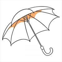 protección contra la lluvia. paraguas abierto. para la temporada de lluvias, otoño. vector