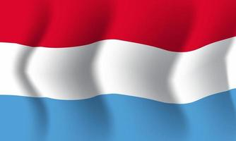 Background waving in the wind Luxembourg flag. Background vector