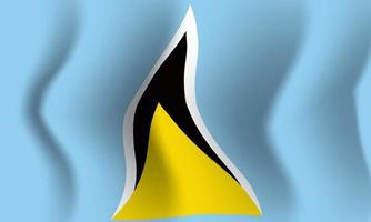 Background waving in the wind Saint Lucia flag. Background for patriot vector