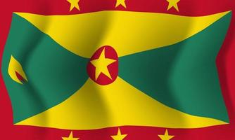 Background waving in the wind Grenada flag. Background vector