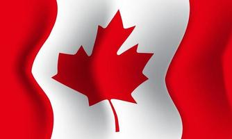 Background waving in the wind Canada flag. Background vector