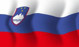 Background waving in the wind Slovenia flag. Background vector