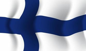 Background waving in the wind Finland flag. Background vector