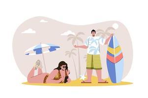 Summer time web illustration vector