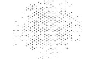 Light Silver, Gray vector template with sky stars.
