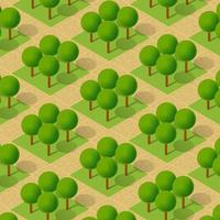 Isometric 3d trees park forest camping nature elements for landscape vector