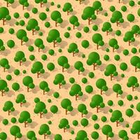 Garden park Isometric forestry landscape green view projection vector
