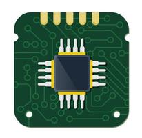 Single chip device of technology electronic microchip microcircuit vector