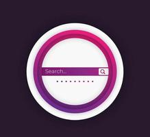 Search bar vector design elements for ui, web and apps