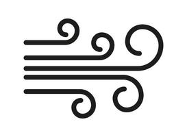Wind icon isolated. Wave swirl weather vector simple symbol
