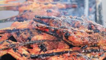 Grilling Chicken Outdoor video