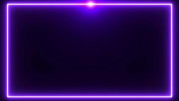 Purple neon border with flare on the top background video