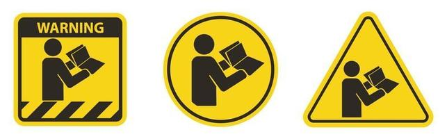 Read Technical Manual Before Servicing symbol vector