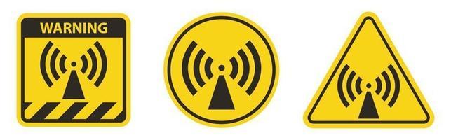 Beware Non-Ionizing Radiation Symbol sign vector