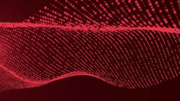 Red particle flare background for background concept video